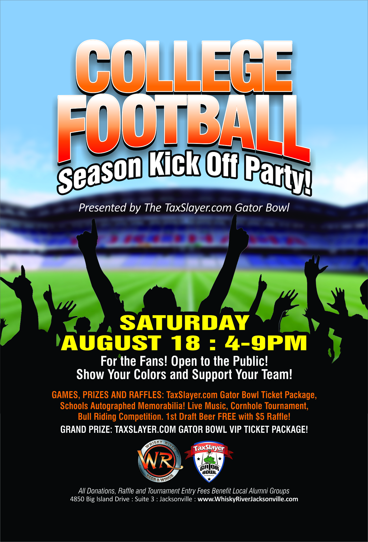 college football season kickoff party presented by the gator bowl georgia